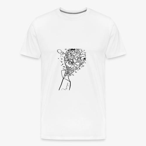 shampoo doodles - Men's Premium T-Shirt