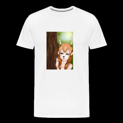 Womens tank: Deer-girl Design by Tina Ditte - Men's Premium T-Shirt