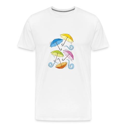 ombrelli multicolour - Maglietta Premium da uomo