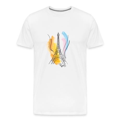 Torre Eiffel disegno - Maglietta Premium da uomo