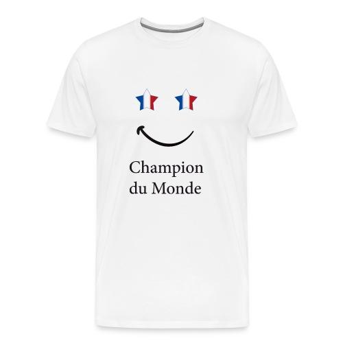 champion du monde bleu blanc rouge - T-shirt Premium Homme