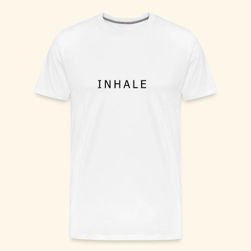 INHALE WHITE - Maglietta Premium da uomo