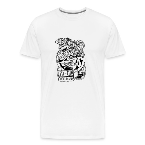 #CATMOB: Meow, mutafucka! (Outline) - Camiseta premium hombre