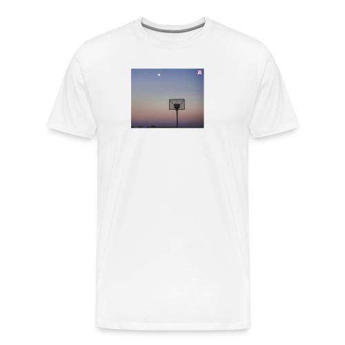 T Shirt mit Basketballkorb - Männer Premium T-Shirt
