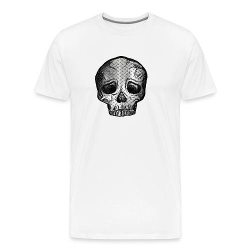 Totenkopf Schädel Kopf Metall Totenschädel Knochen - Männer Premium T-Shirt
