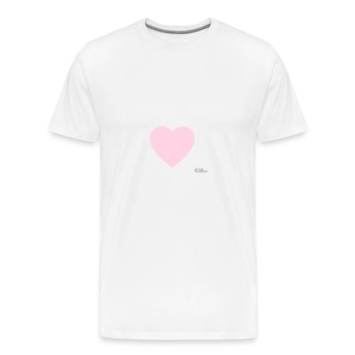 Oberteile mit Rosa herz | XxKeksixX - Männer Premium T-Shirt