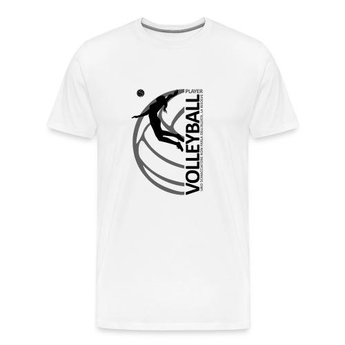 Volleyball player WOMAN black - Maglietta Premium da uomo