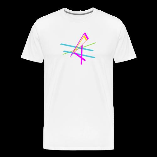 ligne multicolore - T-shirt Premium Homme