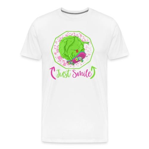 Just Smile - Glücklicher Veggie Skater Kohlkopf - Männer Premium T-Shirt