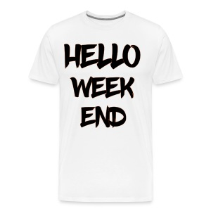 hello weekend - Premium T-skjorte for menn