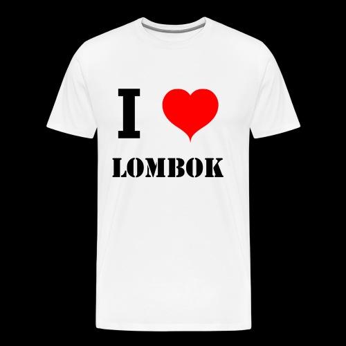 I love Lombok - Men's Premium T-Shirt