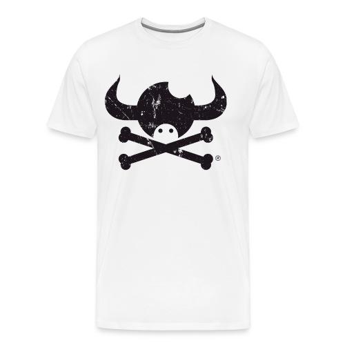 DISEÑO QUIJOTES BASICO NEGRO GRUNGE - Camiseta premium hombre