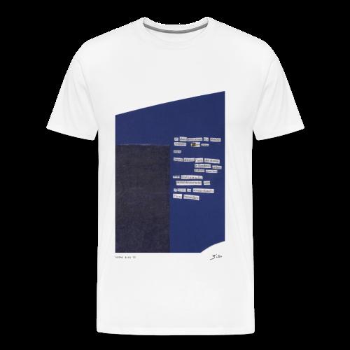 poème bleu 01 - T-shirt Premium Homme