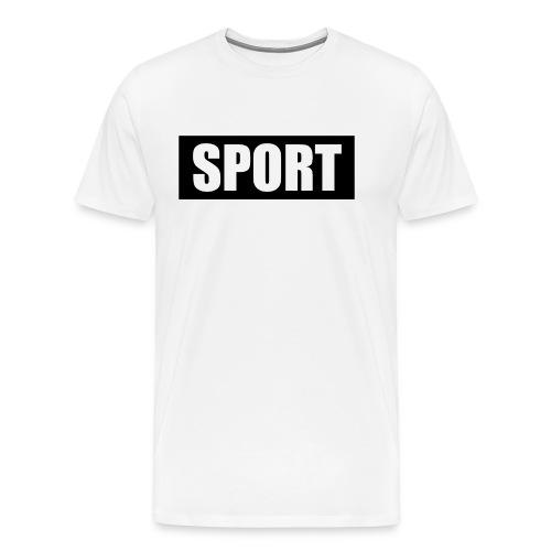 Football t-shirt black background with white text - Men's Premium T-Shirt