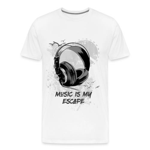 music is my escape - T-shirt Premium Homme