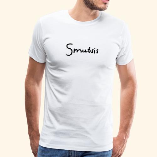 SMUTSIS TEXT - Premium-T-shirt herr