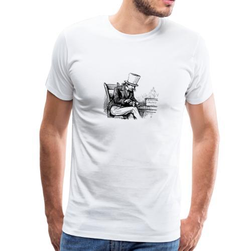 Old man smoking Pipe - Männer Premium T-Shirt