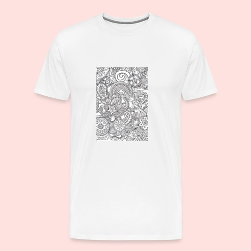 Mandela hoesje - Mannen Premium T-shirt