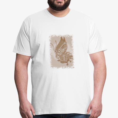 Musik-Schmetterling Sepia - Männer Premium T-Shirt
