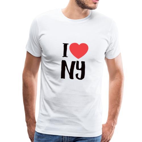 I love New york - Premium T-skjorte for menn