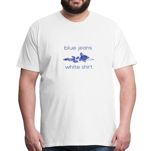 Blue jeans, white shirt - Men's Premium T-Shirt