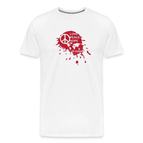 Love Be Human - Mannen Premium T-shirt