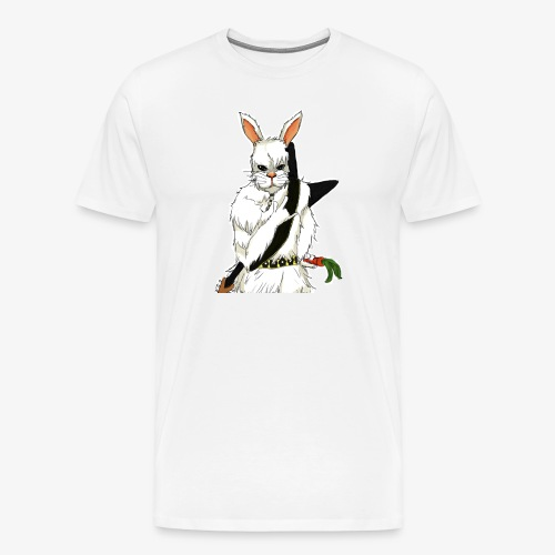The white Rabbit - Premium T-skjorte for menn