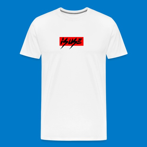 box logo red isuse - Camiseta premium hombre