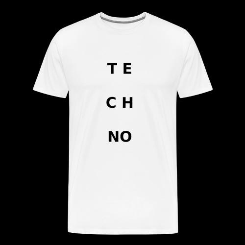 te ch no - Männer Premium T-Shirt