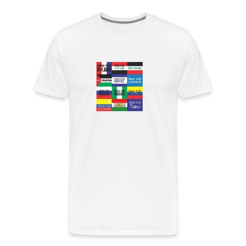 Pray for the World - Mannen Premium T-shirt