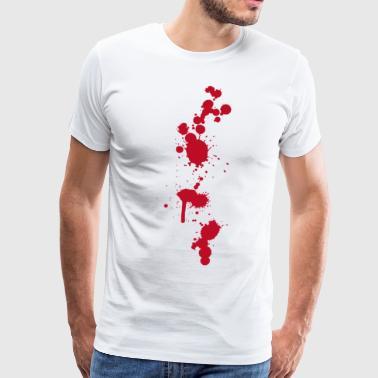Blodfläckar stänk Halloween Zombies operationssalen läkare - Premium-T-shirt herr