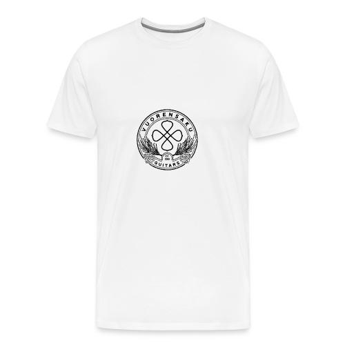 vuorensaku_logo_distressed_BLACK - Miesten premium t-paita