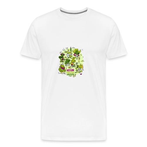 Vegan Hipster Animals - Männer Premium T-Shirt