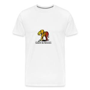 Schützt die Elefanten(-Kinder) - Männer Premium T-Shirt