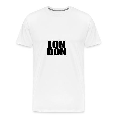 LON   DON Black - Men's Premium T-Shirt