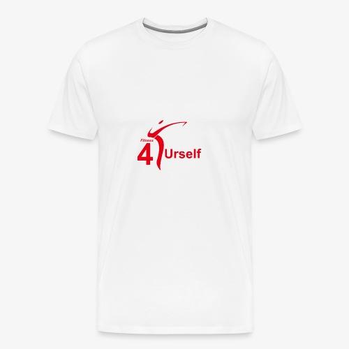 Fitness 4 Urself Logo cmyk rot - Männer Premium T-Shirt