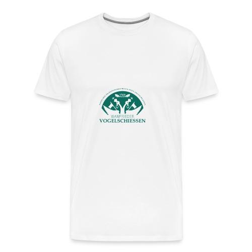 Logo Wanfrieder Vogelschiessen Einfarbig - Männer Premium T-Shirt