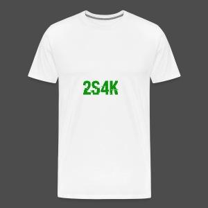 LOGO Grønn Hacked - Premium T-skjorte for menn