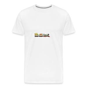 Vintage Train - Premium-T-shirt herr