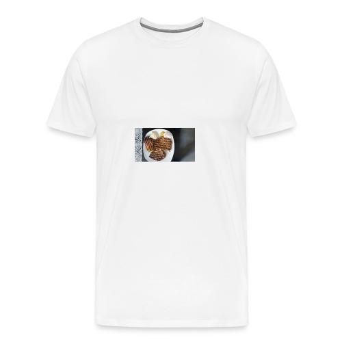 Fleisch auf Teller mit Sauce - Männer Premium T-Shirt