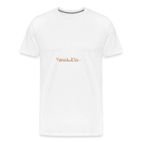 Logo-Schrift-Zug - Männer Premium T-Shirt