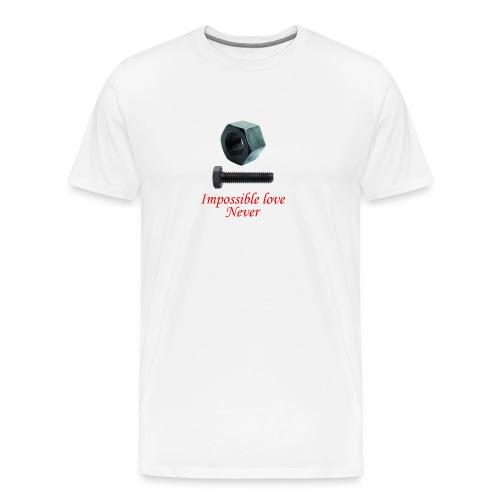 2 Amor imposible nunca - Camiseta premium hombre