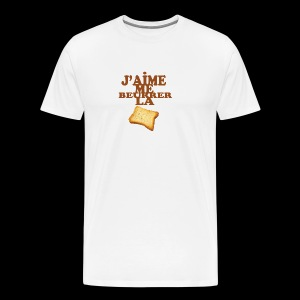 J'aime me beurrer la biscotte - T-shirt Premium Homme