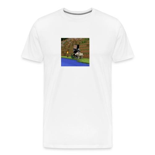 Das sind die Sachen mit mir und einen Wolf draufjj - Männer Premium T-Shirt