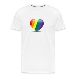 Regenboog hart - Mannen Premium T-shirt