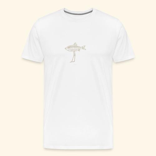 Fence pesce illustrazione - Maglietta Premium da uomo