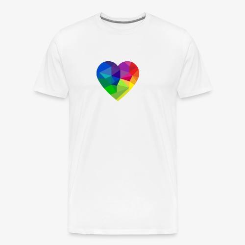 fractal heart - Men's Premium T-Shirt