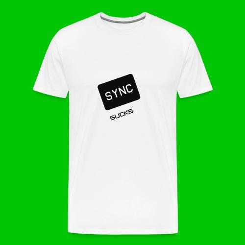 t-shirt-DIETRO_SYNK_SUCKS-jpg - Maglietta Premium da uomo