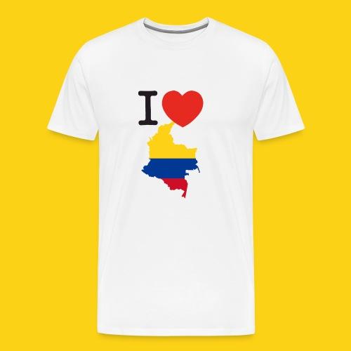 I love Colombia - Maglietta Premium da uomo