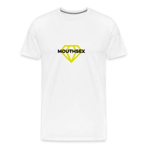 Mouthsex Diamond Black Font - Männer Premium T-Shirt